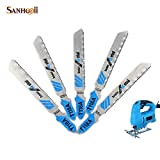 Xucus SANHOOII 5in1 T118A Alloy Steel Curve Saw Blade Thin Metal Plate Cutting Blade For Household Electric saw Sawing Machine