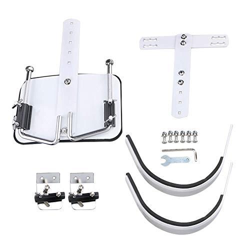 Accesorio de instrumento de percusión de acero blanco Portador de arnés de batería y hombro de marcha