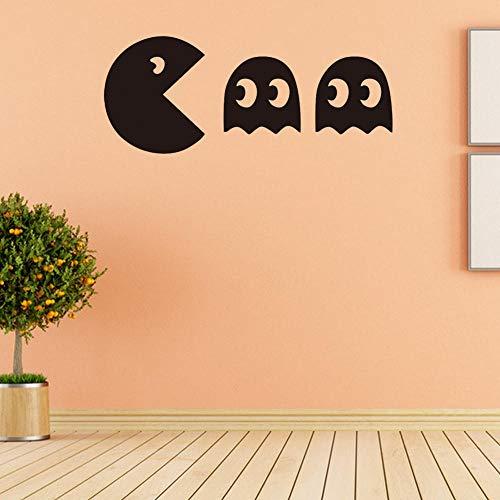 x Pac-Man Spiel Heimtextilien PVC Wandaufkleber Gold Silber Schwarz und Weiß 4 Farben optional Schlafzimmer Wohnzimmer Aufkleber