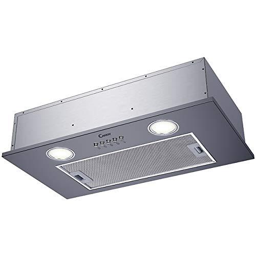 Groupe filtrant Candy CBG6251X - Hotte aspirante Box - largeur 52 cm - Débit d'air maximum (en m3/h) : 200 - Niveau sonore Décibel mini. / maxi. (en dBA) : - / 63