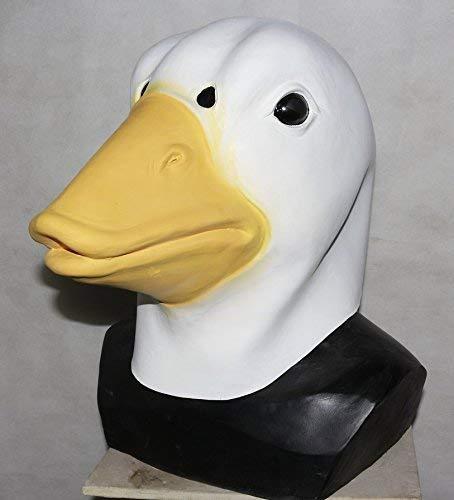 The Rubber Plantation TM Blanc Canard Masque Latex Oiseau Animal Halloween Animal de Compagnie