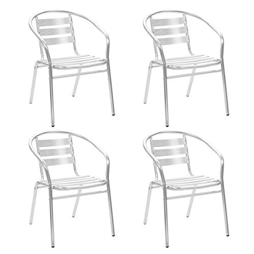 ITAPO Stackable Outdoor Chairs 4 pcs Aluminium