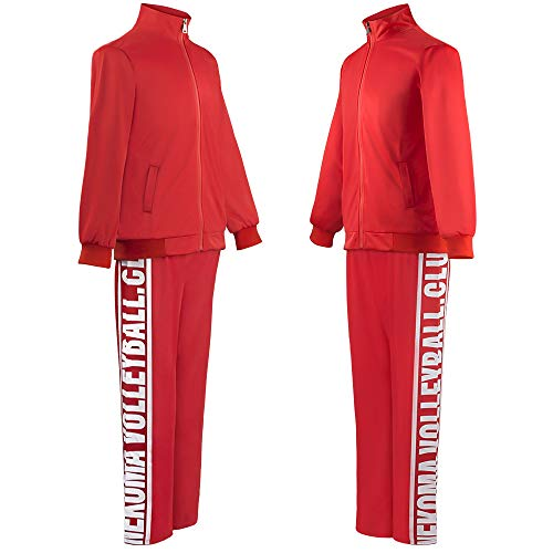 Haikyuu Season 4 Nekoma High Cosplay Jacket Kozume Kenma Uniform Tetsurou Kuroo Costume Volleyball Sportswear Jersey (M, 2-Piece Set)