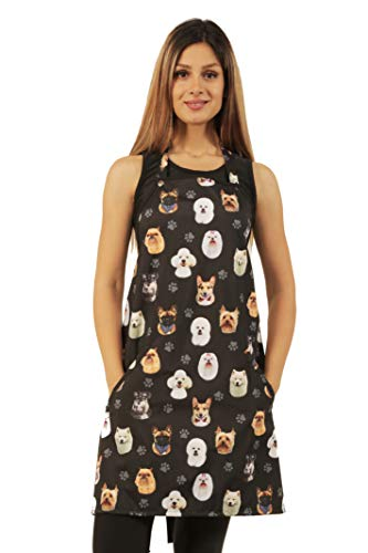 Ladybird Line 610 Dog Breeds Print Waterproof Dog Bather's Apron One Size Fits