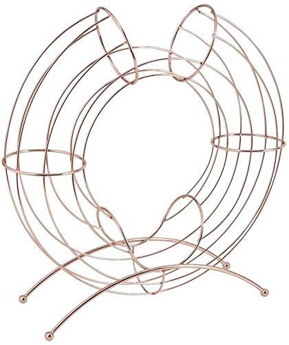 Corbeille design métal cuivré pour oranges