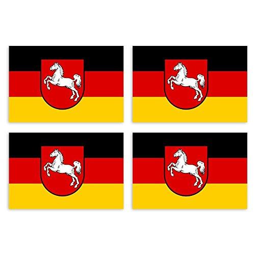Kiwistar Aufkleber 4,5 x 3,9 cm Niedersachsen - Bundesland Autoaufkleber Deutschland Flagge Länder Wappen Fahne Sticker Kennzeichen