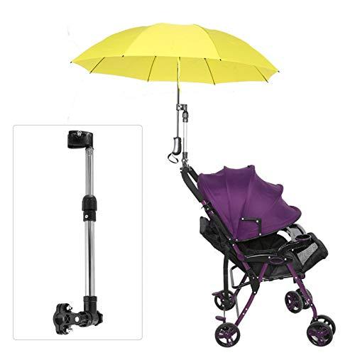Soporte de paraguas MBC, soporte de paraguas para cochecito de bebé, amplia aplicabilidad fácil de instalar para cochecito de bebé en bicicleta