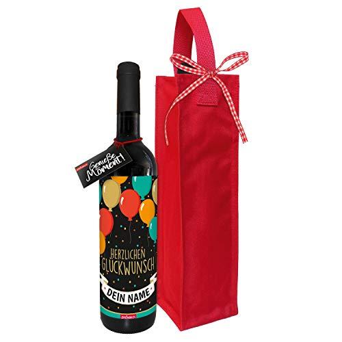 STEINBECK Personalisierter Individualisierter Designer Wein mit Vorname zum Geburtstag originelles Geschenk außergewöhnliches Mitbringsel
