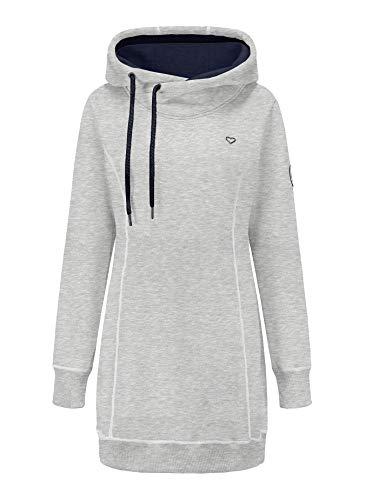 ELFIN Hoodie Damen Sweaterkleid Kapuzenpullover Sport Sweatshirt Herbst
