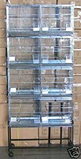 COMBO: LARGE Stack and Lock Double Breeder Cage Bird Breeding Cage With Removable Divider And Breeder Doors 4 Of 30