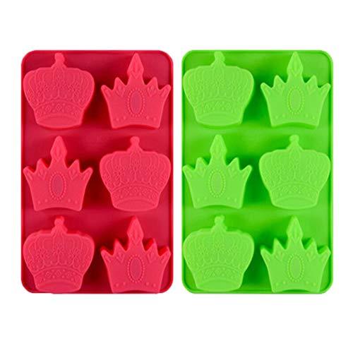 3D-Kronen-Kuchenform aus Silikon für Schokolade, Kuchen, Backbleche, Pudding, Gelee, handgefertigte Seife, Kuchendekoration