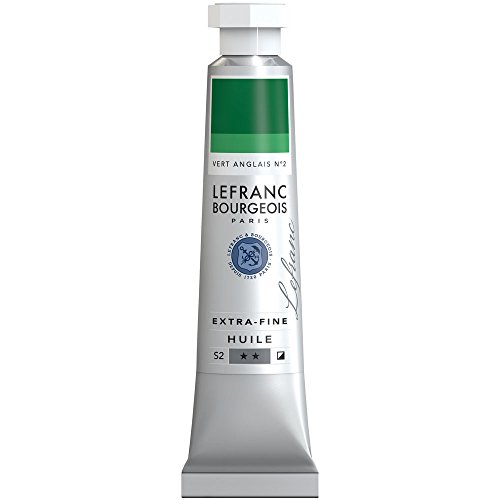 Lefranc & Bourgeois Lefranc Extra Fina Pintura al óleo 20ml–Tube, Artista pigmentos, Inglés Verde nº 2