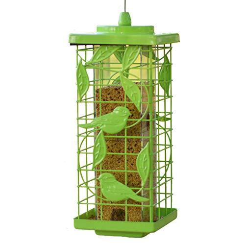 JXXDDQ Mangeoire à Oiseaux en Plein air Ustensiles de Cuisine Villa École Jardin pittoresque Balcon Fournitures pour Oiseaux (Color : Green)