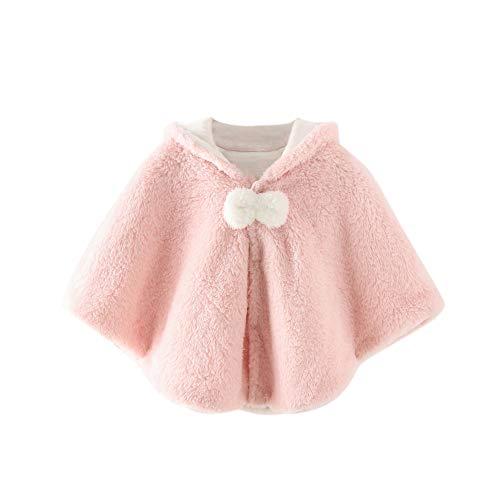 Baywell Baby Mädchen warm Kapuzen Cape Kunstpelz Mantel niedlich Ohr Hoodie Jacke Kap Mantel Poncho Winter Outfit