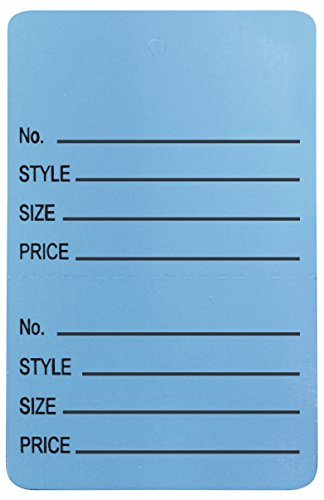 Amram Price Tags 1.25-in x 1.875-in Unstrung Perforated, Light Blue, Printed No; Style; Size; Price, 1,000 Tags