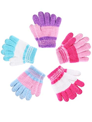 5 Pairs Kids Gloves Full Fingers...