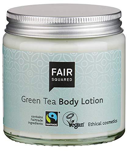 FAIR SQUARED Body Lotion Green Tea 100ml Körperlotion Grüntee - für sensible Haut - vegane Naturkosmetik - Zero Waste