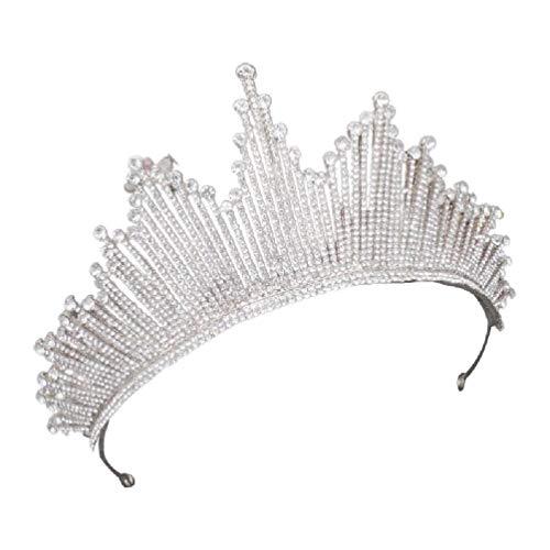 NA/ Green&Rare Barock-Kronen-Tiaras für Hochzeit, Haarschmuck, Königin Vintage Kristall Strass Braut für Frauen Braut Stirnbänder geflochtenes Haarband