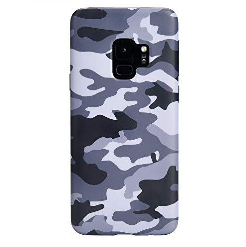 Velvet Caviar Compatible with Samsung Galaxy S9 Case Camo for Girls & Men - Cute Protective Phone Cases (Gray Camouflage)