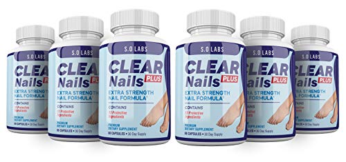 Clear Nails Plus - Antifungal Probiotic Pills - 360 Capsules - Supplement (6 Month Supply)