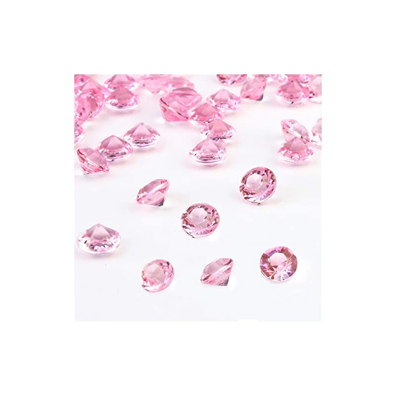 silk flower arrangements outuxed 1500pcs 8mm clear pink wedding table scattering crystals acrylic diamonds wedding bridal shower party decorations vase fillers.