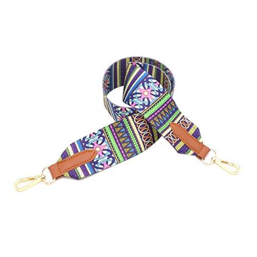 BENAVA Taschengurt Bunter Schultergurt Tragegurt - stilvolles Zubehör für alle Schultertaschen, Tragetaschen und Handtaschen - 90 cm (Braun)