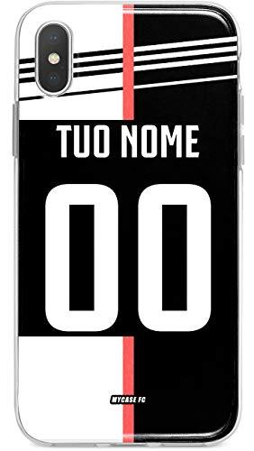 MYCASEFC Custodia Juventus Cover Personalizzabile in Silicone TPU per Telefono - Scegli Il Tuo Nome e Numero (iPhone 7/8 Plus)