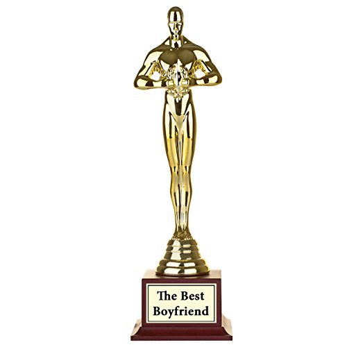 JET Print Divertido personalizado Estatua premio–oro Looking Gag trofeo–la mejor papá, mamá, amigo. Escribir Tu texto y nombre
