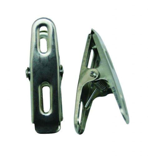 Generic Clip in Metallo casa mollette Clip per Appendere i Vestiti Asciugatura Silvery, Confezione da 20