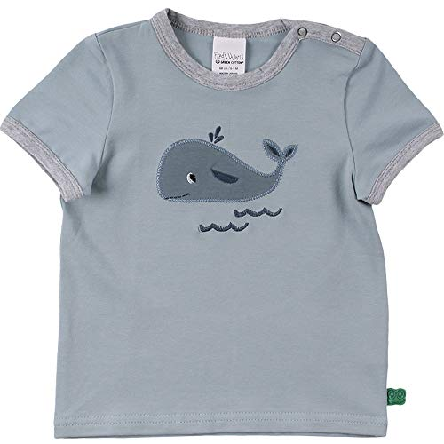 Fred's World by Green Cotton Baby Jungen Hello Whale s/s T-Shirt, Blue Global, 86