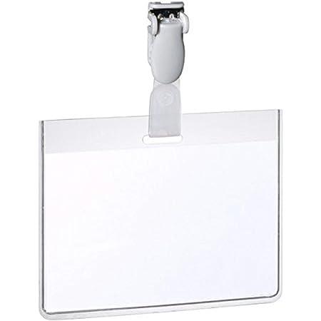 Durable 814319 Eurobadge Pochette Porte-badge Universel Fixation par Clip Plastique pour Insertion Format 60 x 90 mm Plastique Transparent Boîte de 25