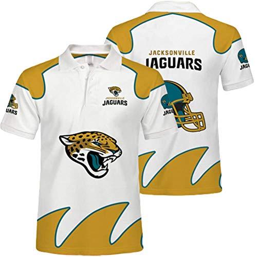 Vail Jaguar Poloshirt, T-Shirt des Team-Anhängers, Atmungsaktive 3D-Bedruckte Lange Ärmel Im Sommer, NFL-Trikots Für Männer Und Frauen