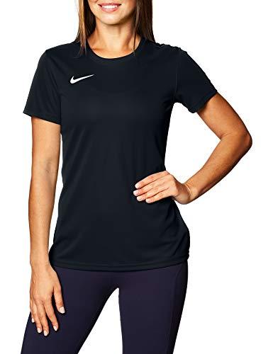 Nike Dry Park VII W Maglietta a Maniche Corte Donna, Nero (Black/White), L