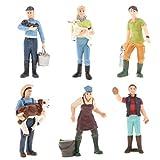 6pcs Puppenhaus Puppen Minifigur Bauer Figur Menschen Modell Spielzeug