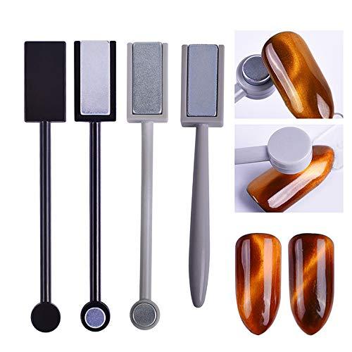 LAEMALLS 3 Pcs Aimant Bâton Set stylo d'aimant multifonctions pour Magie Magnétiques 3D Chat Oeil Effet Vernis Poudre Gel Outil de Manucure Nail Art, pour DIY, Salon#5