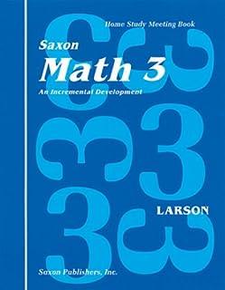 Math 3 Home Study Kit: 1st Edition (Saxon Math 3 Homeschool)