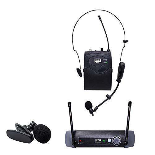 Microfone De Lapela Uhf-10bp Sem Fio Headset Profissional 50 Metros