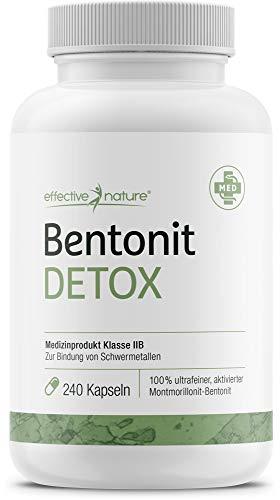effective nature Bentonit Detox, Entschlackung & Detoxing, ideal zur Darmsanierung & Darmreinigung,...