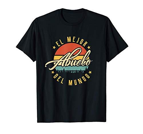 Hombre El Mejor Abuelo Del Mundo Día del Padre Yayo Vintage Camiseta