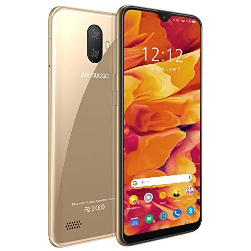 Moviles Libres 4G 5.5', Note 7p Android 9 Smartphone Libre Dual SIM 3GB RAM + 32GB ROM /128GB Memoria Expandida Telefono movil Libres, Face ID, Móviles y Smartphone Libres (Oro)