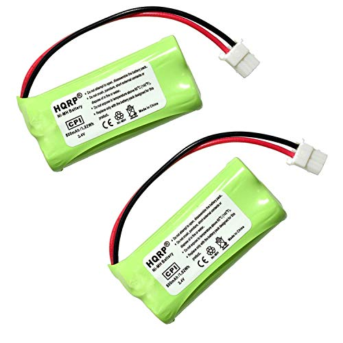 HQRP Phone Battery 2-Pack Compatible with VTech CS6328 CS6328-2 CS6328-3 CS6328-4 CS6328-5 CS6329 CS6329-2 CS6329-3 CS6329-4 CS6329-5 LS6325 LS6325-2 LS6325-3 LS6325-4 LS6325-5 Cordless Telephone