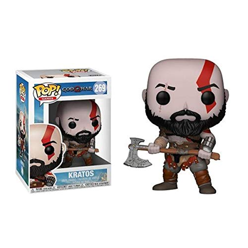 Bobblehead POP dios de la guerra Kratos 4-269# decoración del coche (Color : B)
