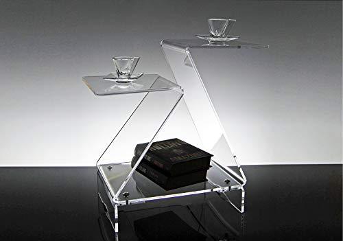 Slato Tavolino Basso da Salotto Design Moderno in plexiglass Trasparente Selene
