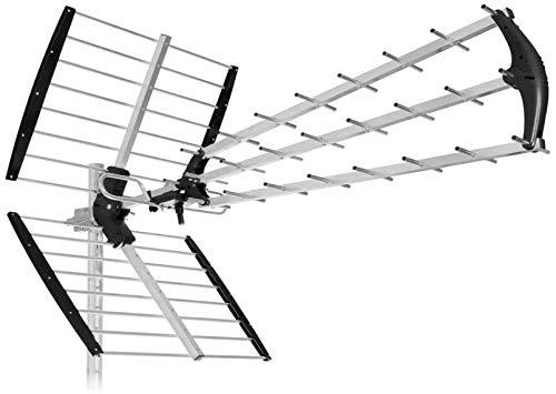 Antenna digitale terrestre da esterno UHF SUPER 56 elementi H265 DVB-T2 nuovo sistema 4K UHD ultra...