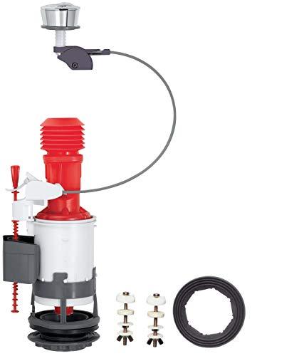 Wirquin Jollyflush 14010401 - Válvula de descarga dualde 50 mm con botón cromático multicolor