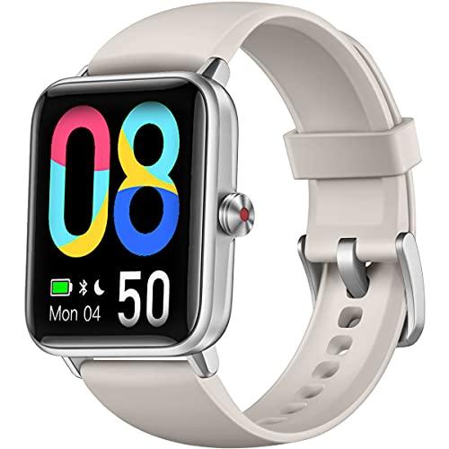 Dirrelo Reloj Inteligente Hombre Mujer 2021, Reloj Deportivo con Pantalla Táctil, Monitor de Sueño, Monitoreo de Estrés, Smartwatch Mujer Hombre Impermeable iP68 para Teléfonos iOS Android, Gris