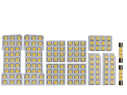 10系 アルファード 専用設計 電球色 3000K LED ルームランプ 11点セット ANH10W/MNH10W/ATH10W ゴールデン...