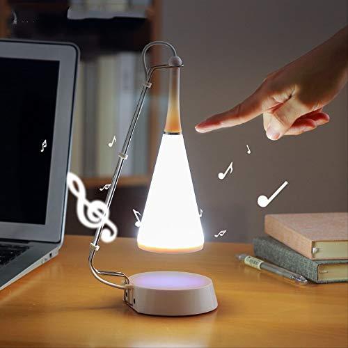 Lámpara LED de mesa con sensor táctil, Bluetooth, reproductor de música para escritorio, iluminación de mesa para estudiantes.