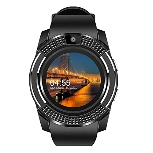 V8 Bluetooth Smartwatch Wristband Fitness Tracker iOS Touchscreen Activity Bracelet (Negro)