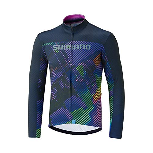 SHIMANO Maillot SH M M/L Termico Team Mor T-XL Camiseta, Hombre